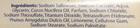 Savon de Toilette Douceur à l'Huile d'Amande douce - Ingredients - fr