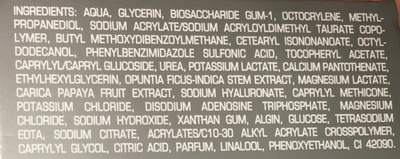 Soin hydratant - Ingredients - fr