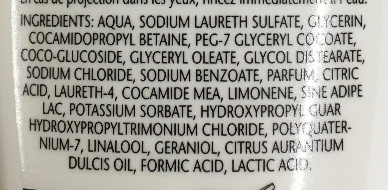 Douche Soin & Beauté à l'huile d'orange & eau de glacier - Ingredients - fr