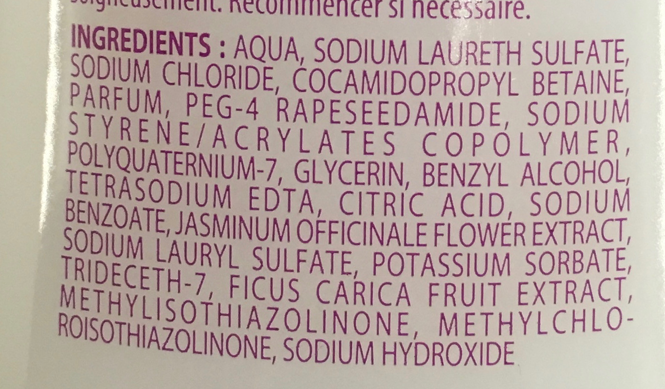 Shampooing extra doux miel karité - Ingredients - fr
