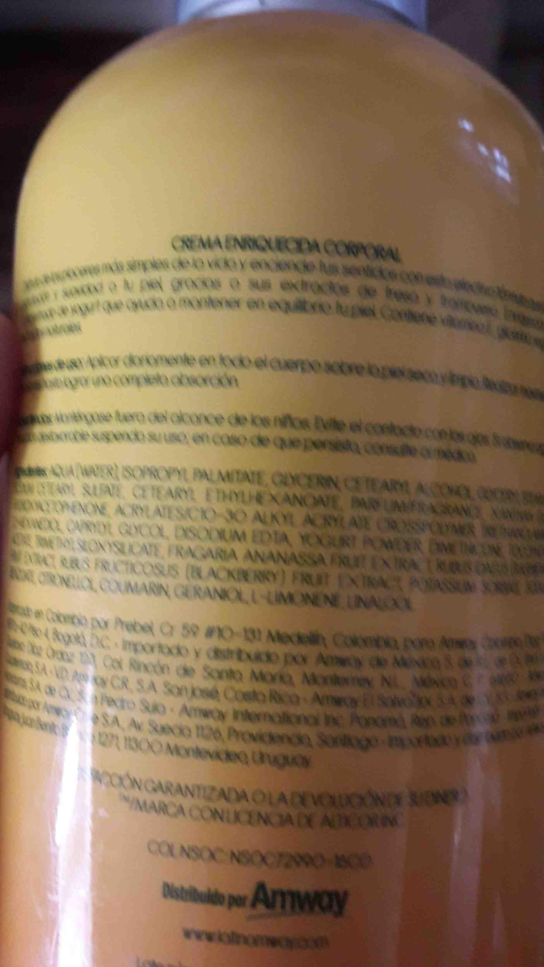 ertia crema 300 ml - Ingredients - en