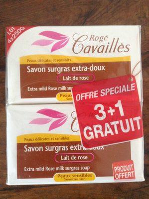 Savon surgras extra-doux lait de rose - Produit