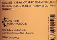 Huile de massage et de soin - Ingredients - fr