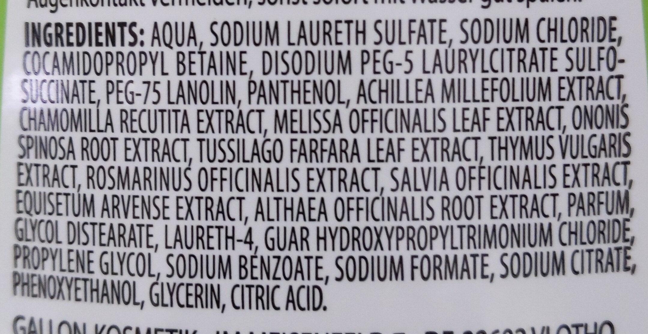 Kräuter Shampoo - Inhaltsstoffe - de