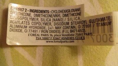 Base lissante ressurfaçante - Ingredients - fr