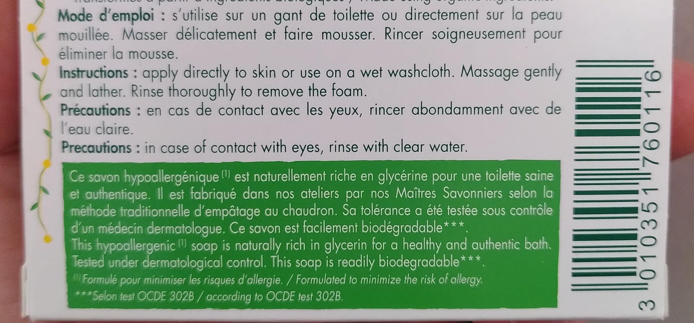 savon cosmétique biologique - Product - en