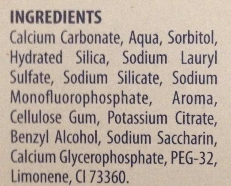 Protection Caries - Ingredients