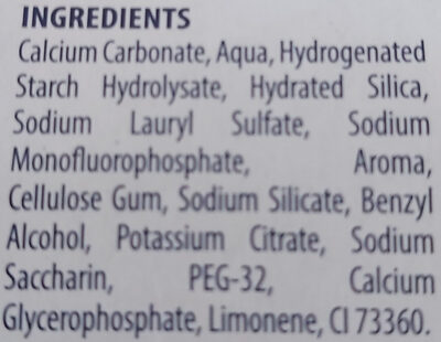 Protection Caries - Ingredients - fr