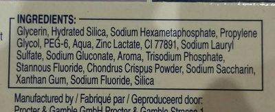 Oral B Tandpasta Pro-expert Tanderosie - Ingrédients
