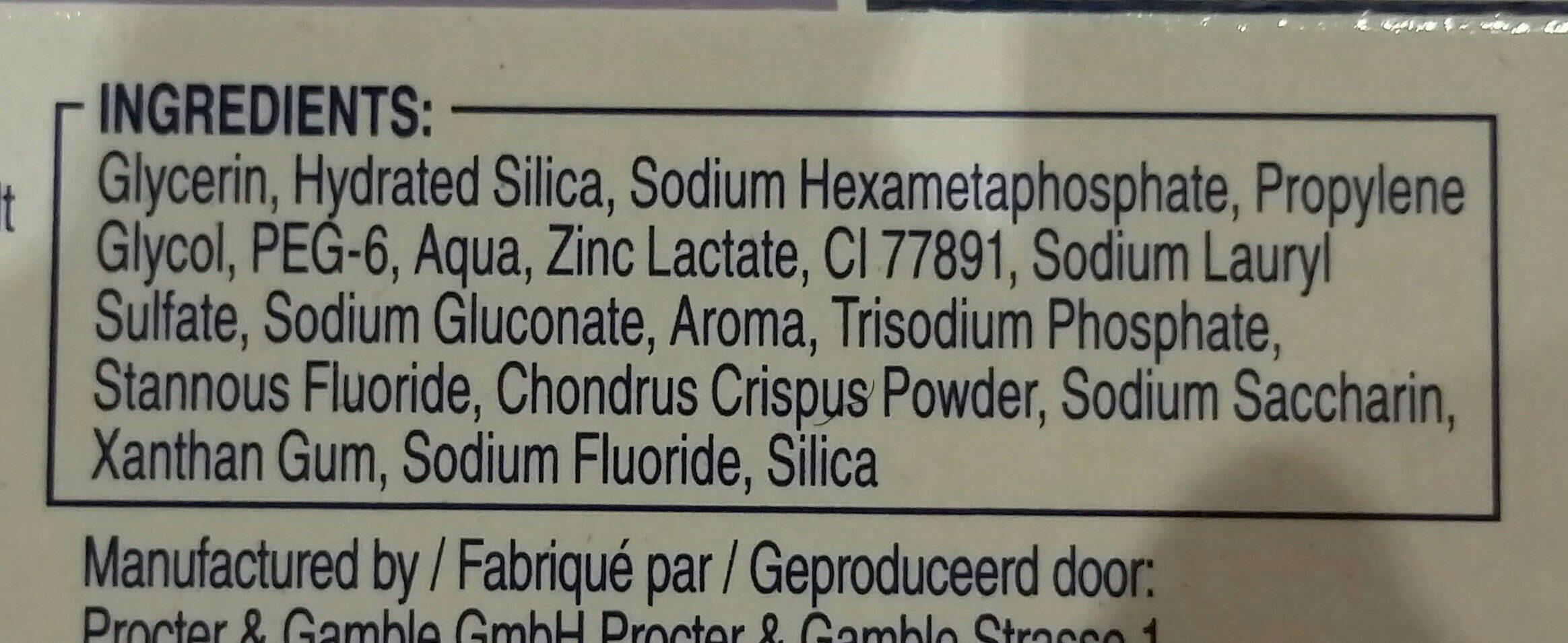 Oral B Tandpasta Pro-expert Tanderosie - Ingredients - fr
