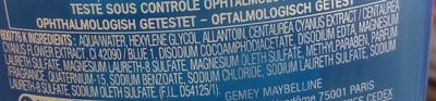 Cils Demasq - Lotion fraîcheur démaquillant douceur pour les yeux - Ingredients