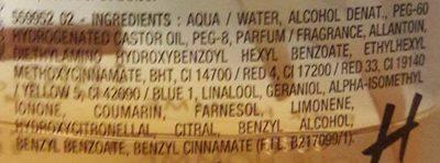 Après-rasage à l'allantoïne - Ingredients