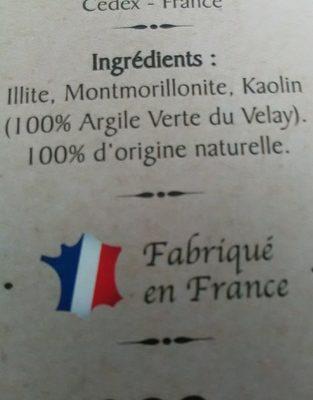 Argile verte - Ingredients - fr