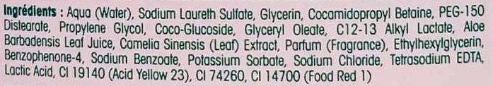 Savon liquide désinfectant hydratant Aloe véra & Thé vert - Ingredients - fr