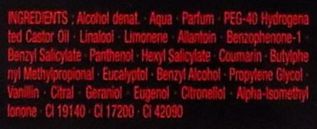 Après rasage parfumé - Ingredients - fr