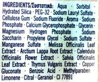 Homéophytol - Ingredients - en