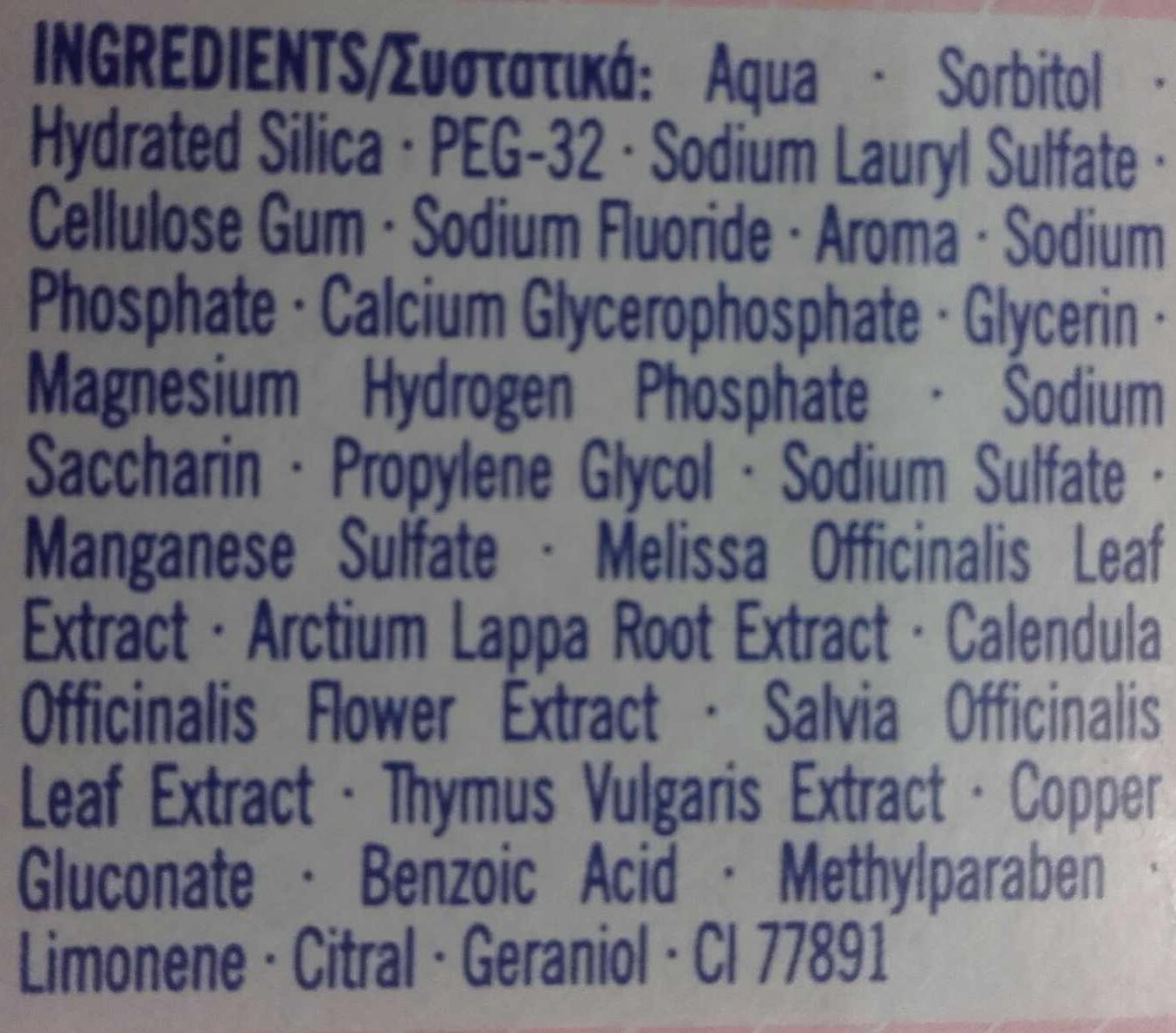 Homéophytol - Ingrédients - fr