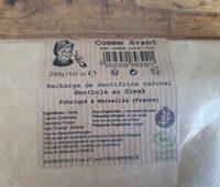 Dentifrice naturel mentholé au Siwak - Product - fr
