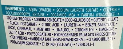 Rafraîchis moi ! Douche fondante hydra fraicheur Parfum aquatique Fleur des lagons - Ingredients