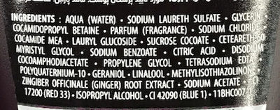 Tease me! Aphrodisiac Shower Gel - Ingredients