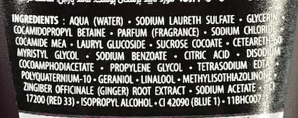 Tease me! Aphrodisiac Shower Gel - Ingredients - fr