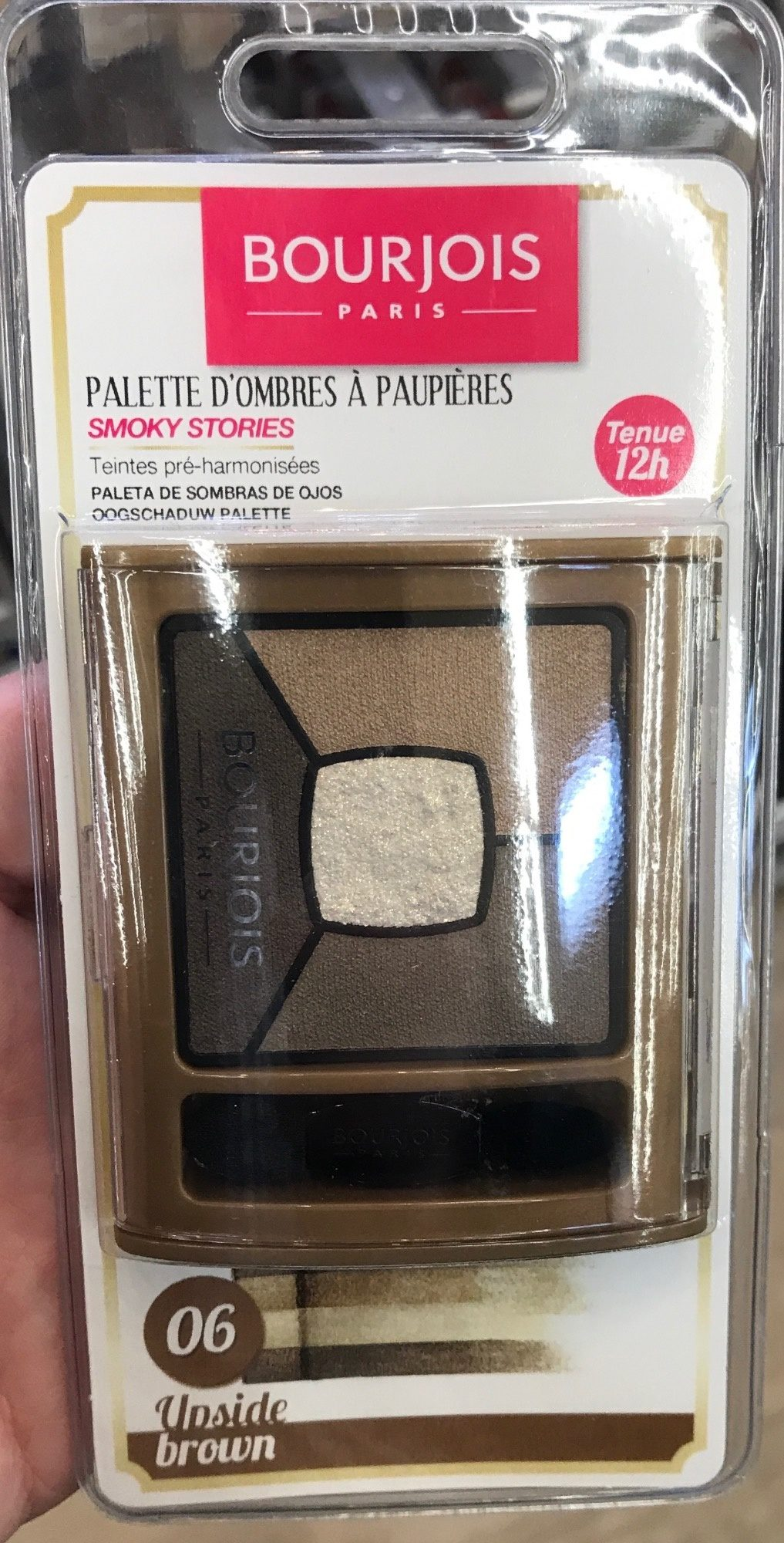 Palette d'ombres à paupières Smoky Stories 12H Upside Brown 6 - Produit - fr