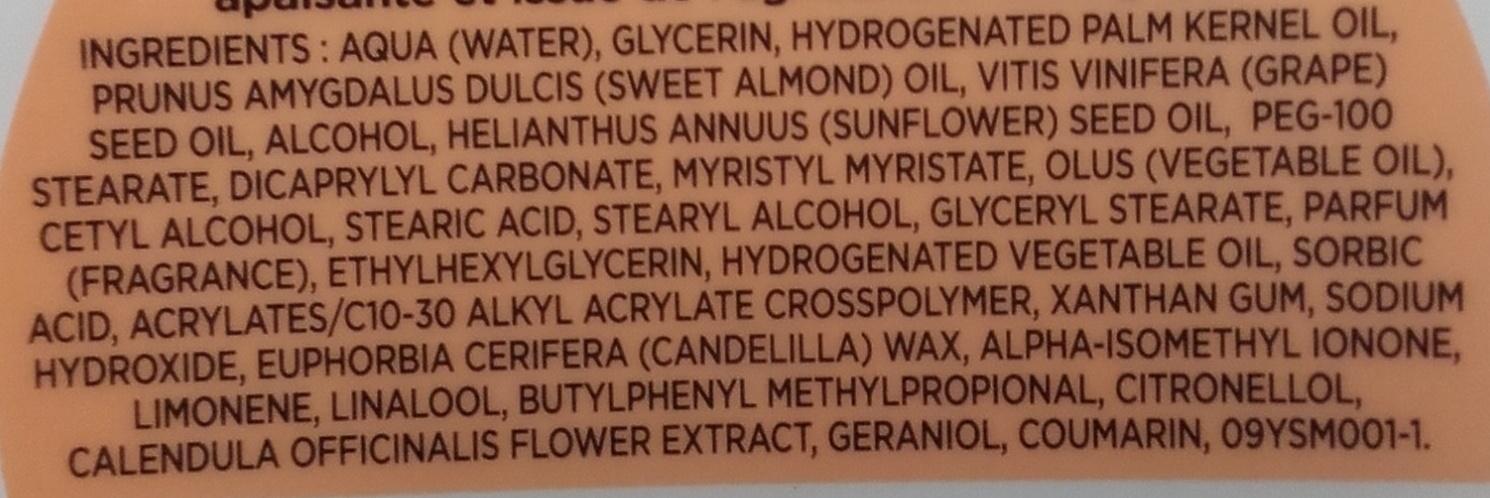 Crème de soin nourrissante à partager - Ingredients