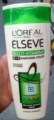 Elseve Multi-Vitaminé 2 en 1 Shampooing vitalité - Product