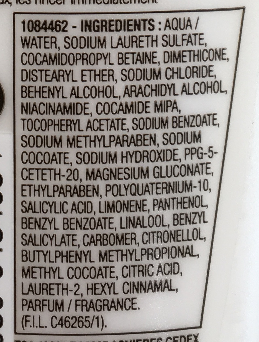 Elseve Multi-Vitaminé Shampooing vitalité - Ingredients - fr