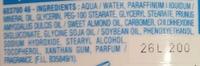 Lait de toilette très doux Vitamine E Huile d'amande douce - Ingredients - fr