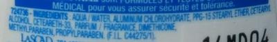 Anti-transpirant 48h Tolérance Optimale - Ingrédients