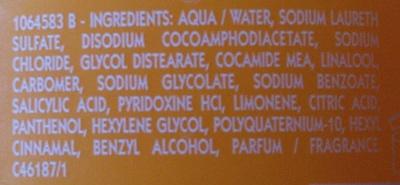 Shampooing très doux aux vitamines - Ingrédients
