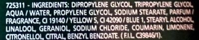 Stick Large Contrôle H-24 Vert - Ingredients
