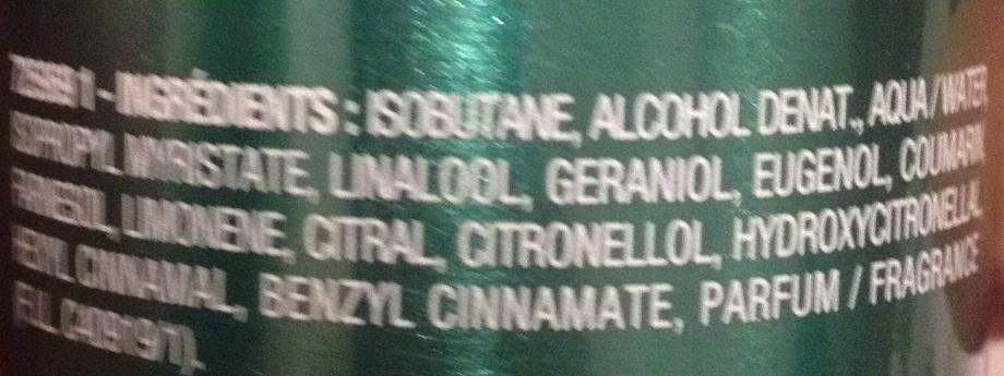 Déodorant fraîcheur classique - Ingredients
