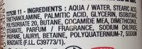 Mousse Pro-tech système - Ingredients