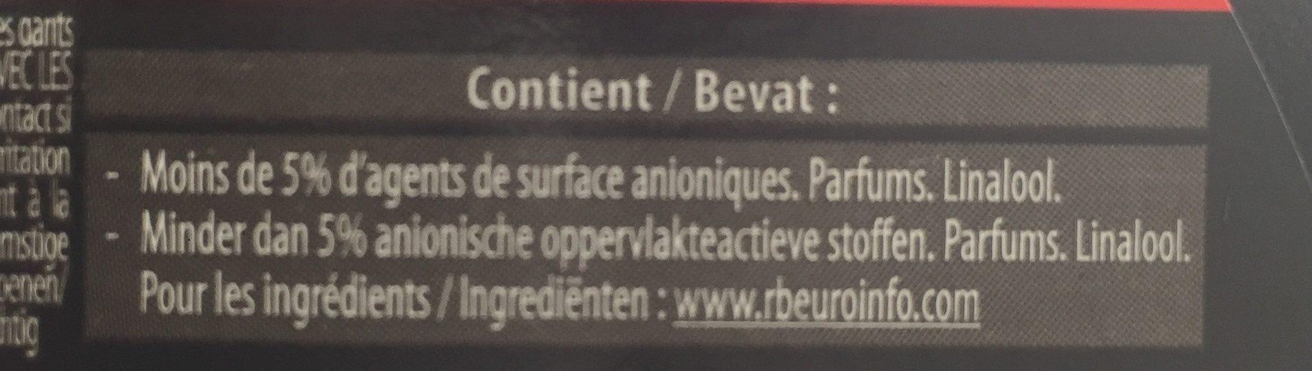 Nettoyant express 3 in 1, pour plaques de cuisson - Ingredients