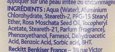 Déodorant Crème 3 - Ingredients