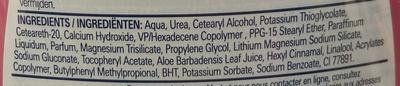 Crème dépilatoire sous la douche - Ingredients - fr