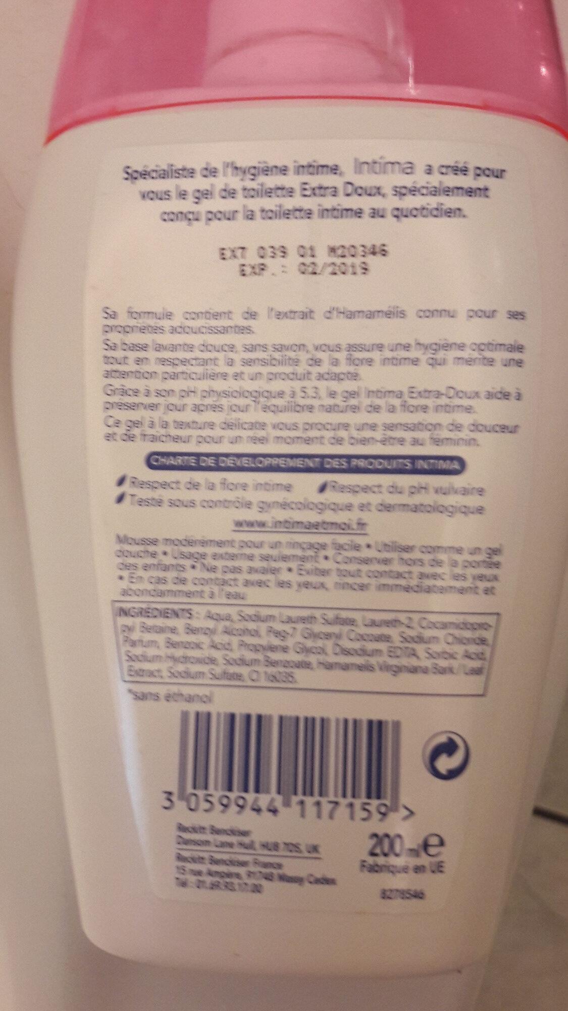 Gel Extra Doux de Toilette Intime à l'extrait d'hamamélis - Product - fr