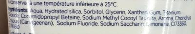 Dentifrice Junior goût fruité - Ingredients