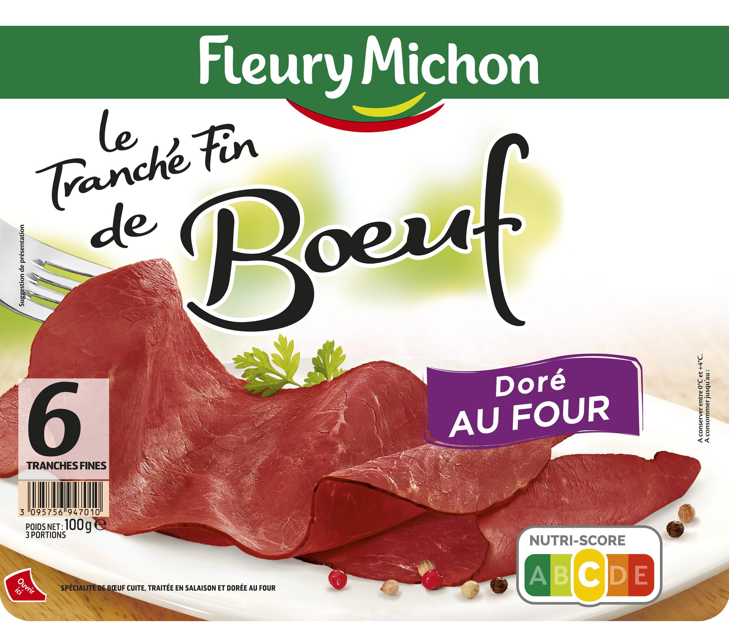 Le Tranché Fin de Boeuf Doré au four - 6 tranches fines - Produit - fr