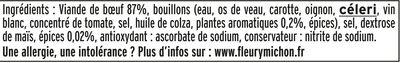 Le Tranché Fin de Boeuf Doré au four - 6 tranches fines - Ingrédients - fr