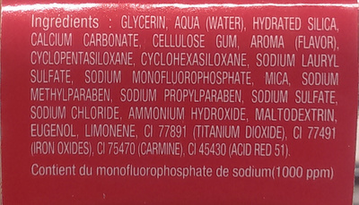 Formule rouge l'original - Ingredients - fr