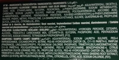Gel crème colorant n°30 châtain foncé - Ingrédients