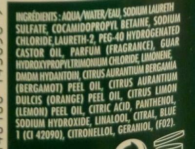 Shampooing Force Protection L'Original Bleu (édition limitée) - Ingredients - fr