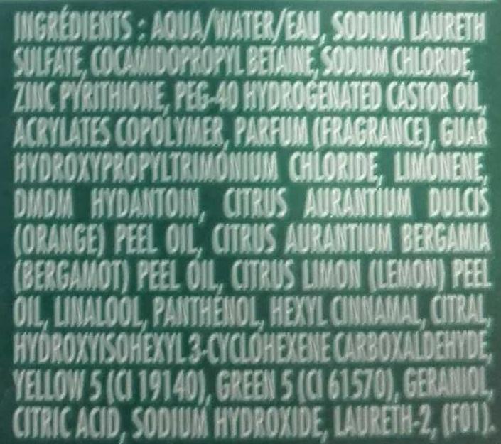 Shampooing Stop Pellicules Classique Gras - Ingredients - en
