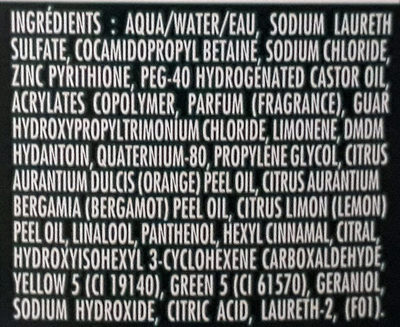 Shampooing anti pelliculaire classique, cheveux normaux - Ingrédients