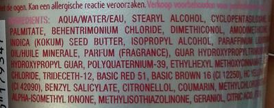 Blush care Soin régénérateur de couleur - Rouge - Ingredients - fr