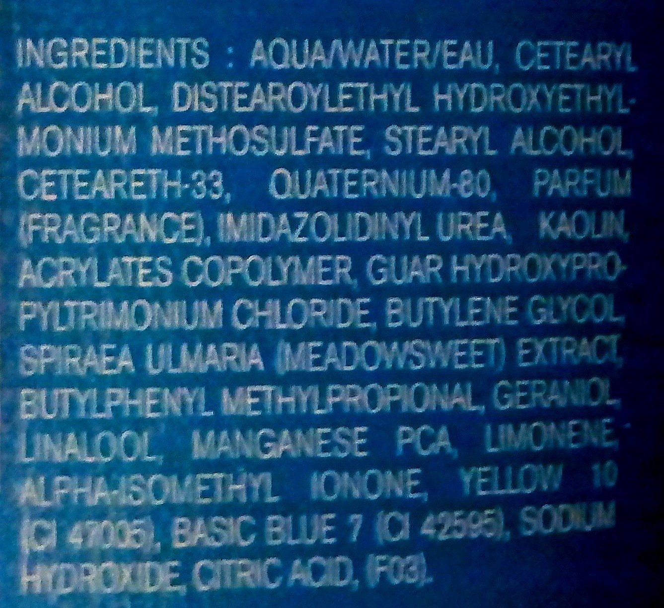 Pureté - Ingredients - fr