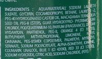 Shampooing Nutrition Kéragène Huile de Macadamia - Ingredients - fr